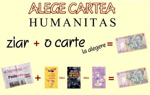 Ziarul Evenimentul si cartile cadou de la Humanitas
