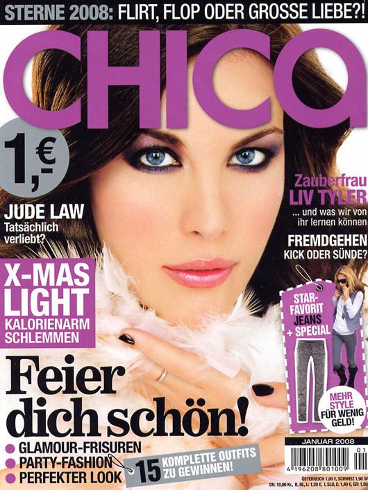Liv Tyler pe coperta revistei Chica Germania, Ianuarie 2008