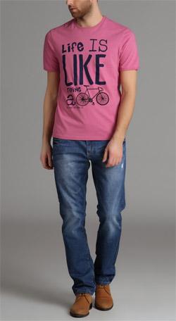 Tricou roz cu mesaj - 55 lei pe T!NAR.ro