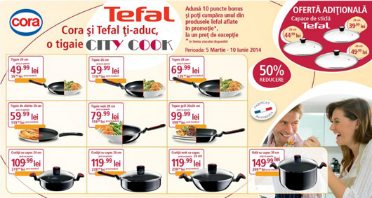 Campanie Cora pentru Tefal City Cook