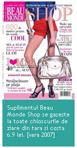 Revista Beau Monde Shop 2007