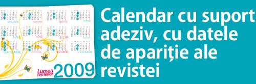 Calendar de buzunar 2009 - Lumea Femeilor