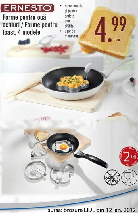 Forme din inox pentru oua si clatite - oferta LIDL in Ianuarie 2012