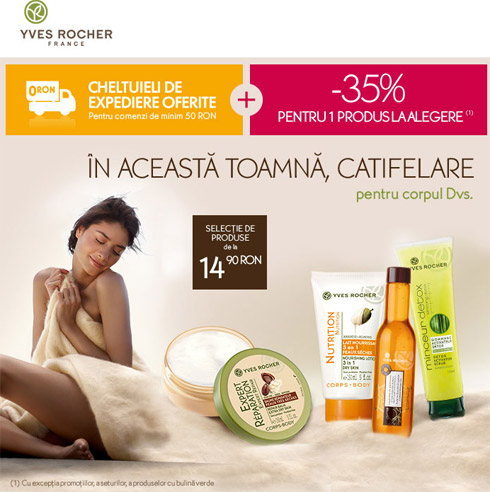 Yves Rocher - promotie 35% reducere - 23-29 Octombrie 2012