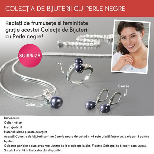 Set de bijuterii cu perle negre de la Yves Rocher