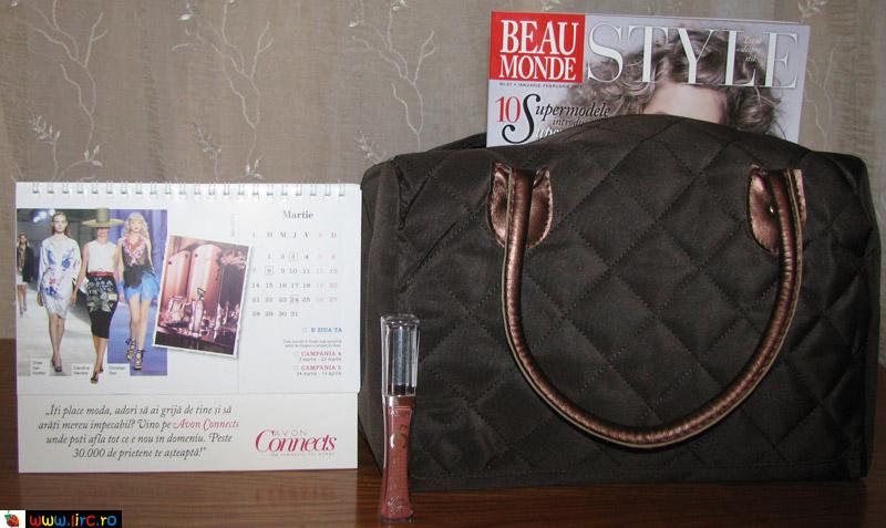 Beau Monde Style ~~ Cadou lipgloss L\'Oreal Paris Glam Shine 6H  si calendar Avon 2011 ~~ Ianuarie-Februarie 2011
