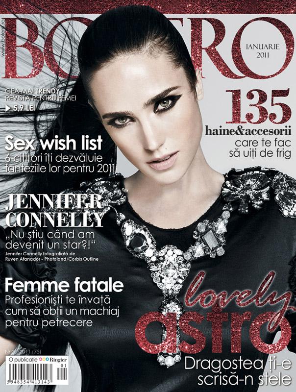 Bolero ~~ Cover girl: Jennifer Connelly ~~ Ianuarie 2011