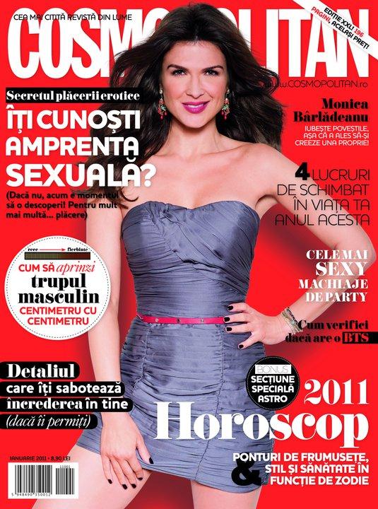 Cosmopolitan Romania ~~ Coperta: Monica Barladeanu ~~ Ianuarie 2011