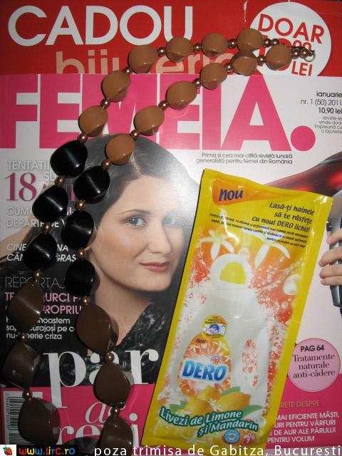 FEMEIA. ~~ Bijuterie cadou si insert ~~ Ianuarie 2011