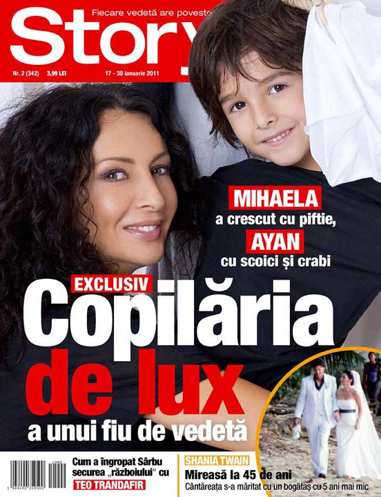 Story ~~ Coperta: Mihaela Radulescu si fiul ei Ayan ~~ 17 Ianuarie 2011