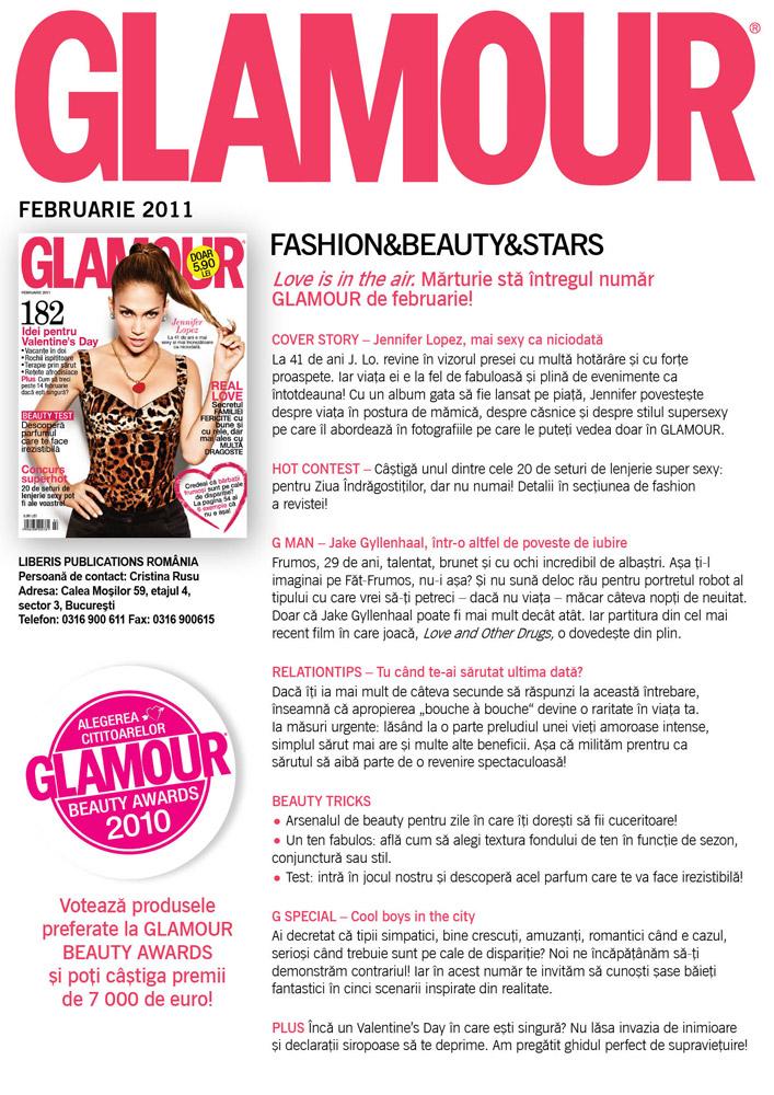 Sumarul editiei de Februarie a revistei GLAMOUR