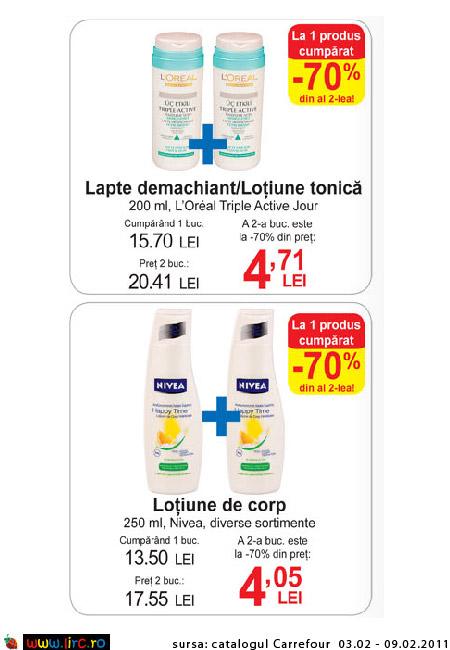Oferta Carrefour pentru produse L\'Oreal Paris si Nivea ~~ 3-9 februarie 2011