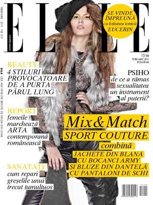 Elle Romania ~~ Coperta: Raluca Enasuta (Agentia One Models) ~~ Februarie 2011