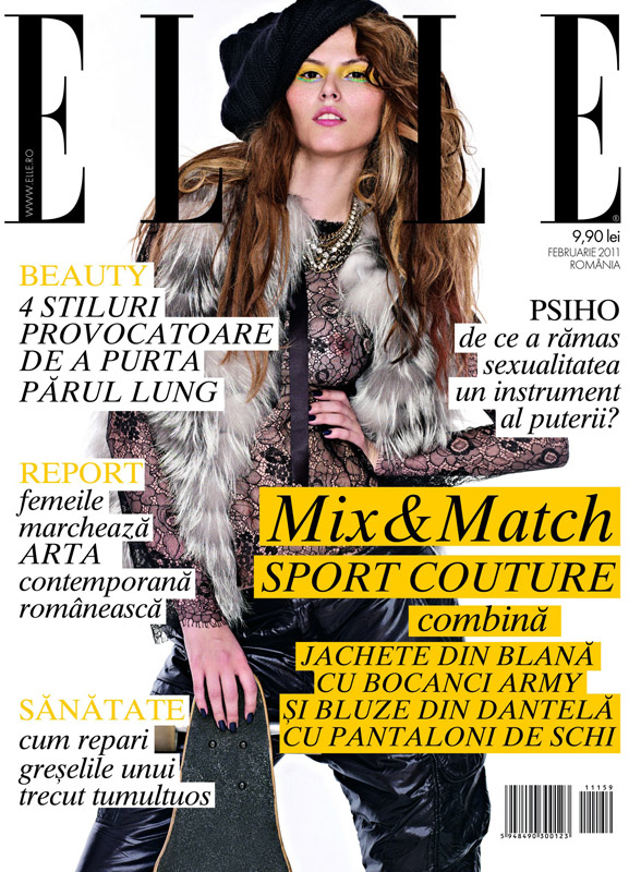 Elle Romania ~~ Cover girl: Raluca Enasuta (Agentia One Models) ~~ Februarie 2011