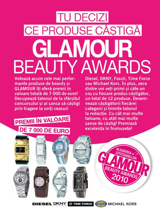 Glamour Beauty Awards ~~ Februarie 2011