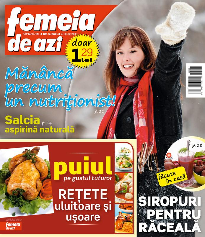 Femeia de azi ~~ Cadou: Carticica cu retete uluitoare si usoare cu pui ~~ 4 Februarie 2011
