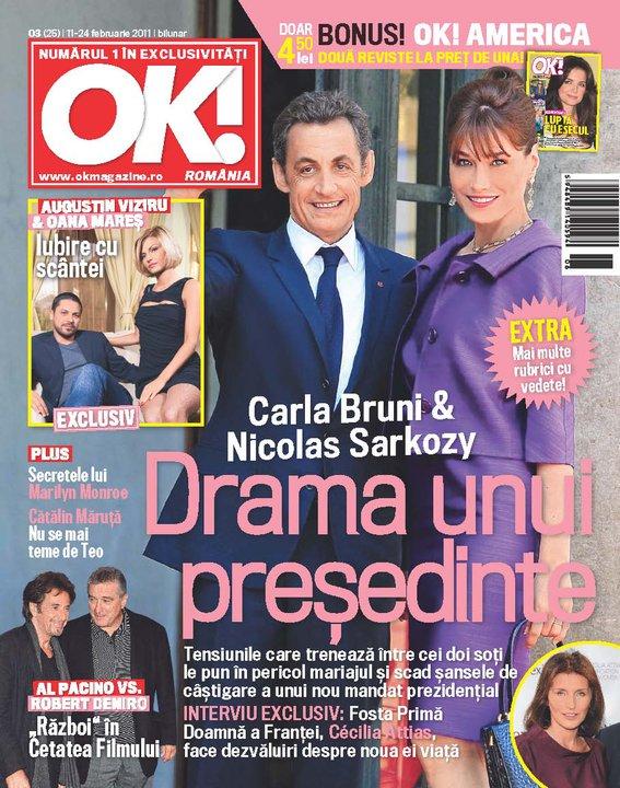 OK! Magazine Romania ~~ Cover people: Carla Bruni si Nicolas Sarkozy ~~ 11 Februarie 2011
