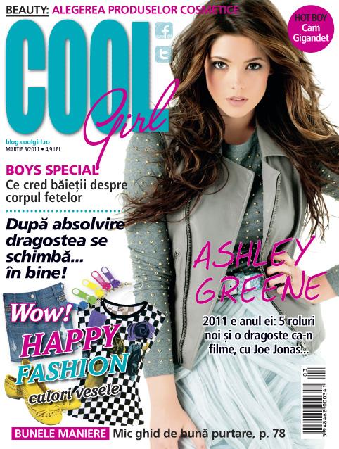 Cool Girl ~~ Cover girl: Ashley Greene ~~ Martie 2011