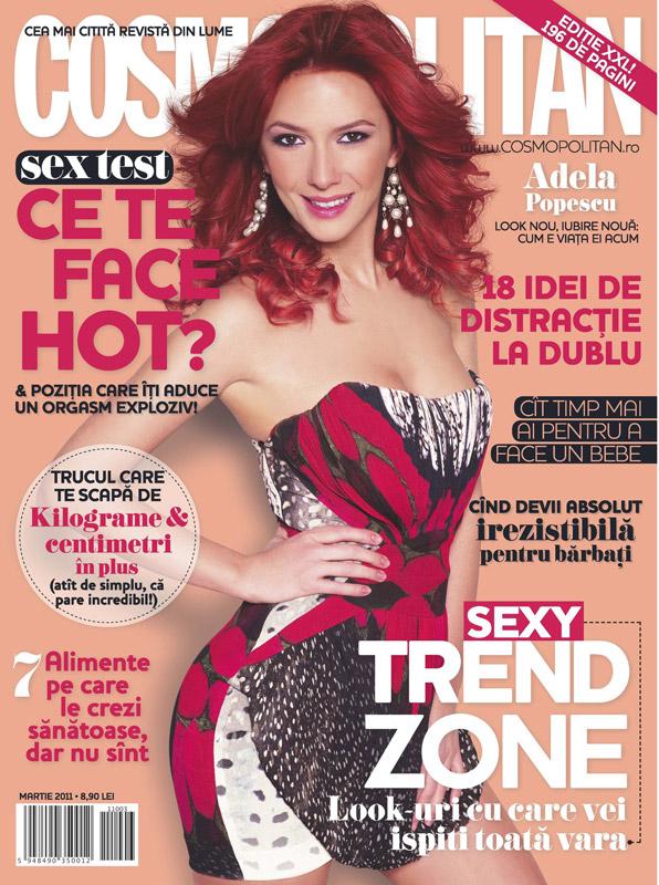 Cosmopolitan Romania ~~ Coperta: Adela Popescu ~~ Martie 2011