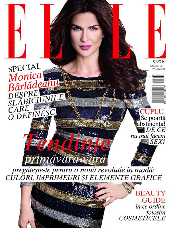 ELLE Romania ~~ Cover girl: Monica Barladeanu ~~ Martie 2011