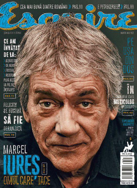 Esquire Romania ~~ Coperta: Marcel Iures ~~ Martie-Mai 2011
