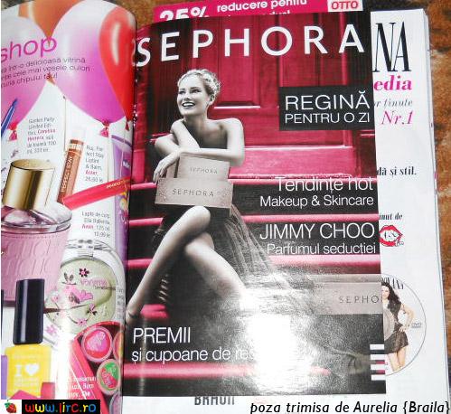 Brosura Sephora ce contine cupoane de reduceri ~~ in Look! de Martie 2011