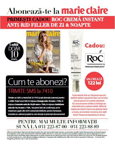 Oferta abonament la Marie Claire Romania