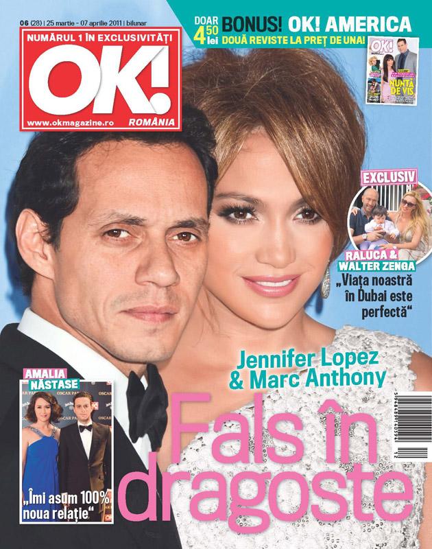 OK! Magazine Romania ~~ Cover people: Jennifer Lopez si Marc Anthony ~~ 25 Martie 2011