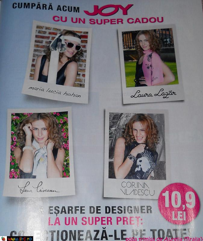 Promo JOY: 4 esarfe de designer ~~ Aprilie 2011