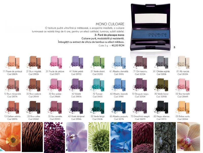 Fard de pleoape mono pudra cu aplicator Couleurs Nature de la Yves Rocher ~~ impreuna cu Marie Claire, editia de Aprilie 2011