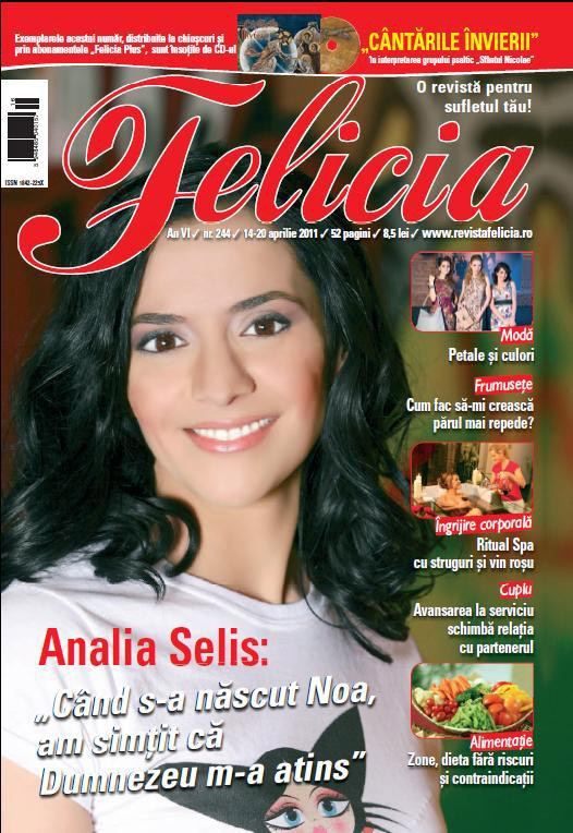 Felicia ~~ Coperta: Analia Selis ~~ 14 Aprilie 2011