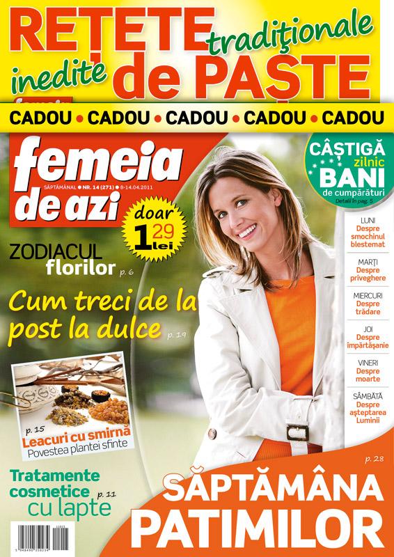 Femeia de azi ~~ Zodiacul florilor ~~ 15 Aprilie 2011