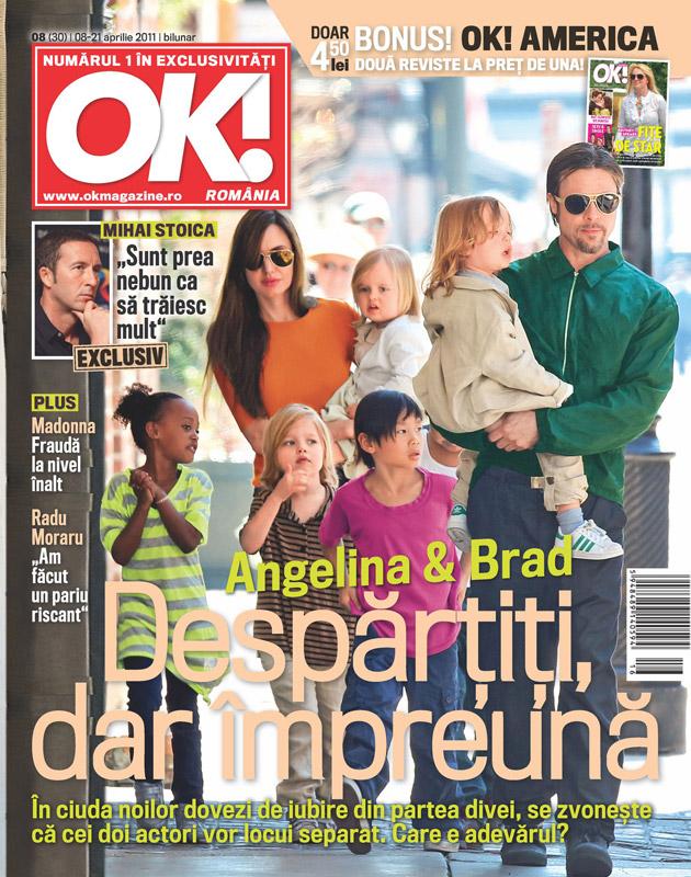 OK! Magazine Romania ~~ Cover people: Angelina Jolie si Brad Pitt ~~ 22 Aprilie 2011