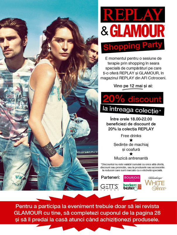 Replay&GLAMOUR Shopping Party ~~ AFI Cotroceni, Romania ~~ 12 Mai 2011