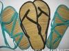 Sandale din rafie de la Beau Monde si Slapi de plaja de la InStyle ~~ 2010