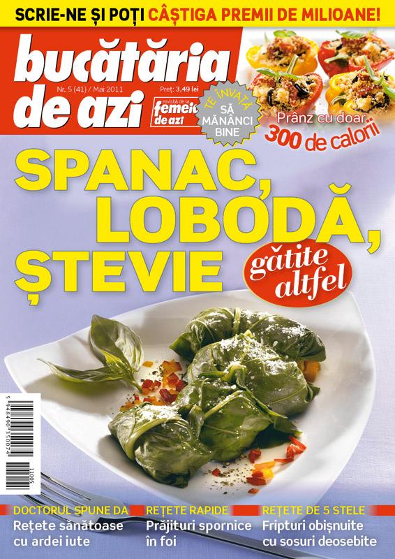 Bucataria de azi ~~  Spanac, loboda si stevie ~~ Mai 2011
