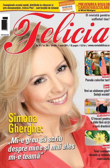 Felicia ~~ Coperta: Simona Gherghe ~~ 26 Mai 2011