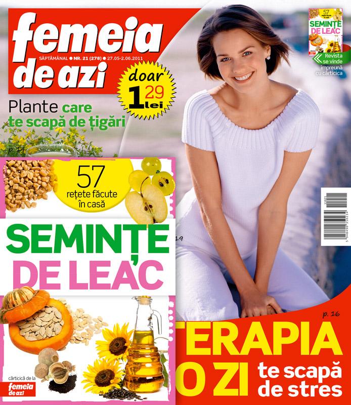 Carticica Seminte de leac ~~ impreuna cu Femeia de azi ~~ 27 Mai 2011