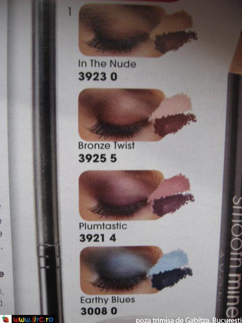 Fardurile de pleoape Smooth Minerals de la Avon ~~ detalii despre nuante ~~ cadoul revistei Beau Monde de Iunie 2011
