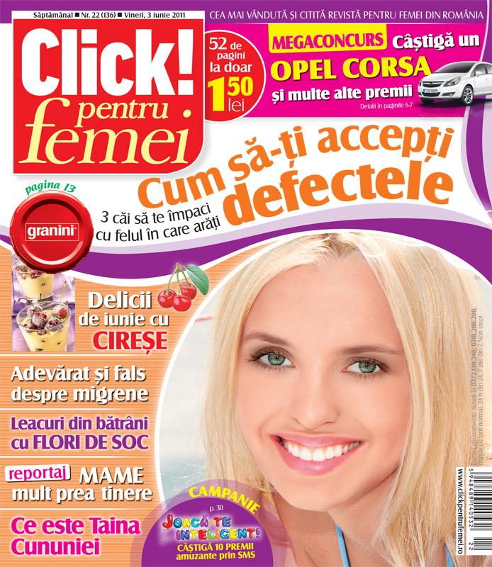 Click! pentru femei ~~ Cum sa-ti accepti defectele ~~ 3 Iunie 2011
