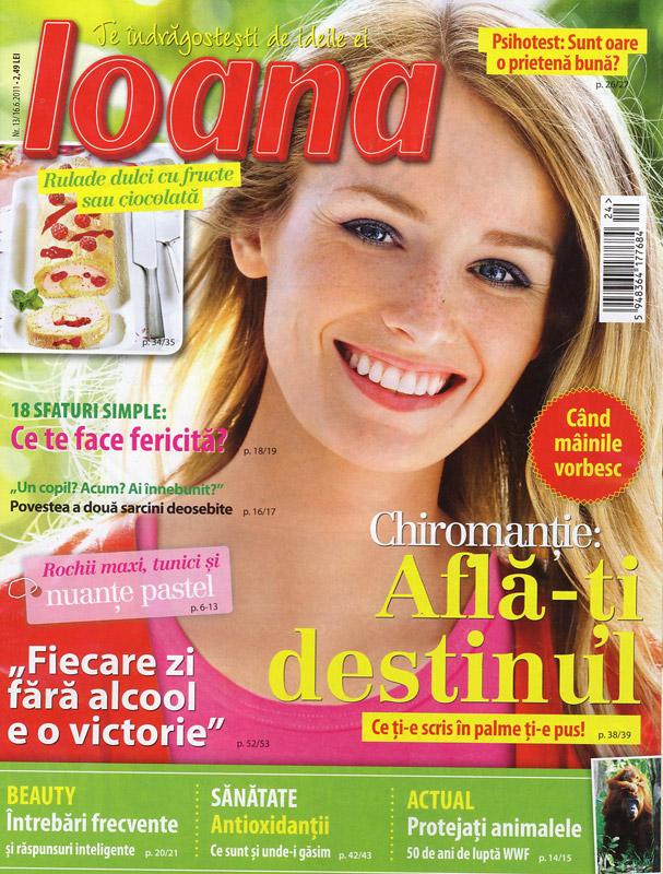 Ioana ~~ nr. 13 ~~ Chiromatie: afla-ti destinul ~~ 16 Iunie 2011