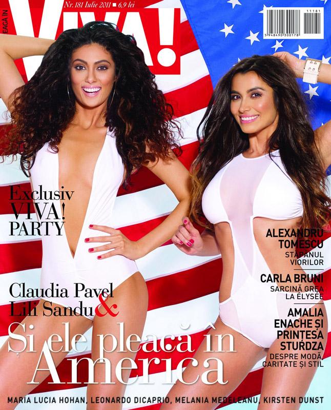 Viva ~~ Cover girls: Lili Sandu si Claudia Pavel ~~ Iulie 2011