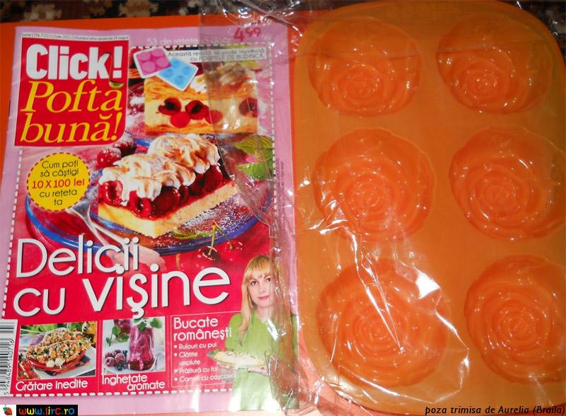 Click! Pofta buna ~~ Cadou 6 forme de silicon pentru budinca ~~ Iulie 2011
