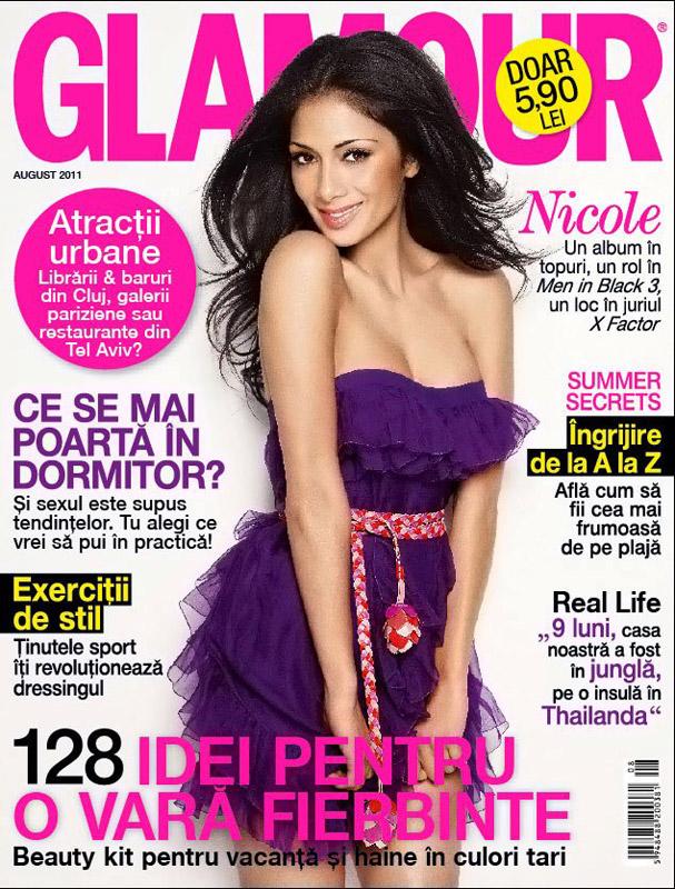 Glamour Romania ~~ Cover girl: Nicole Scherzinger ~~ August 2011
