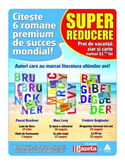 Oferta Gazeta Sporturilor: 6 romane premium de succes mondial, la pretul de 14 lei/bucata.