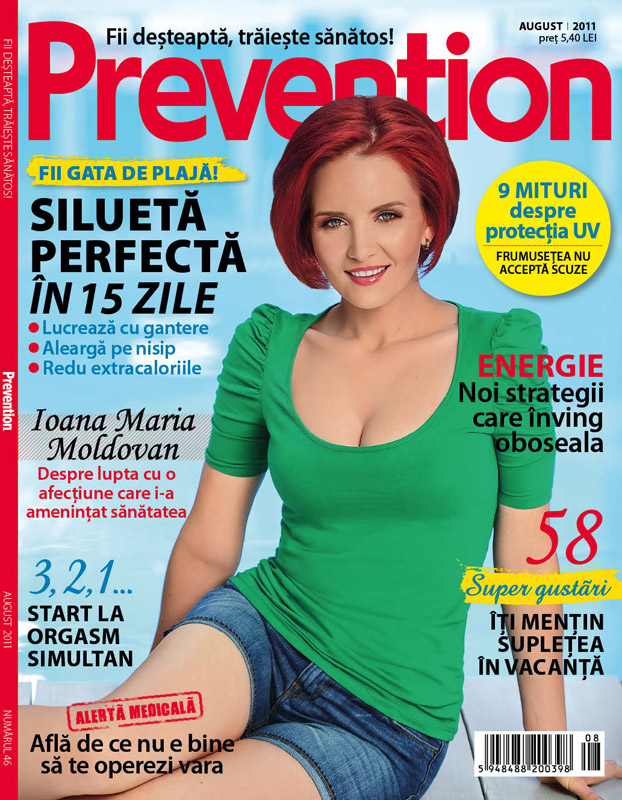 Prevention Romania ~~ Cover girl: Ioana Maria Moldovan ~~ August 2011