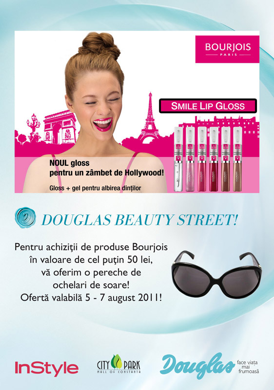 Promotia Bourjois Paris in magazinele Douglas: Un zâmbet de Hollywood şi un cadou cool de la Bourjois! ~~ 5-7 August 2011