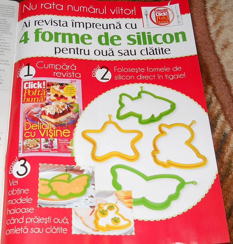 Promo 4 forme de silicon pentru tigaie (oua sau clatite) ~~ impreuna cu Click! Pofta buna din 19 August 2011