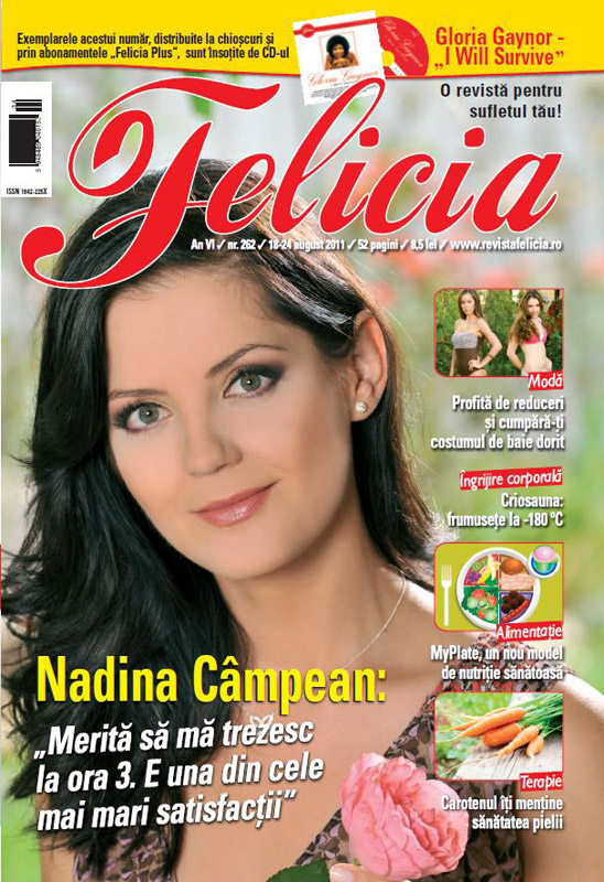 Felicia ~~ Coperta: Nadina Campean ~~ CD: I WILL SURVIVE de Gloria Gaynor ~~ 18 August 2011