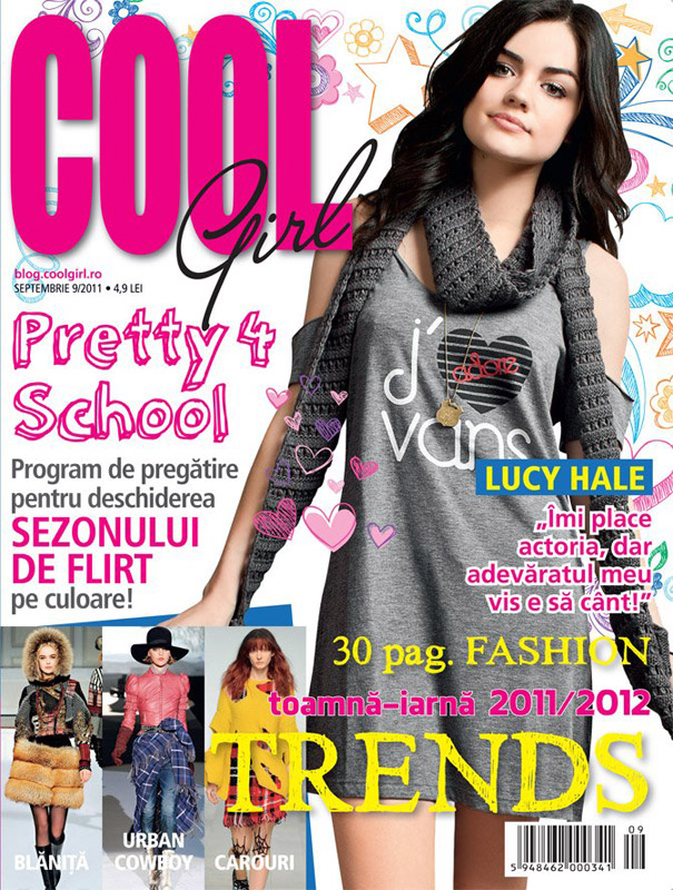 Cool Girl ~~ Cover girl: Lucy Hale ~~ Septembrie 2001
